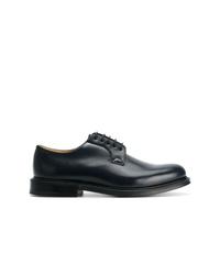 Chaussures derby en cuir bleu marine Church's
