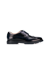 Chaussures derby en cuir bleu marine Hogan