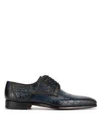 Chaussures derby en cuir bleu marine Magnanni