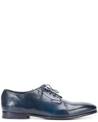 Chaussures derby en cuir bleu marine Officine Creative