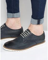 Chaussures derby en cuir bleues Asos