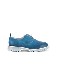 Chaussures derby en cuir bleues Diego Vanassibara