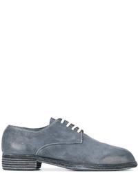 Chaussures derby en cuir bleues Guidi