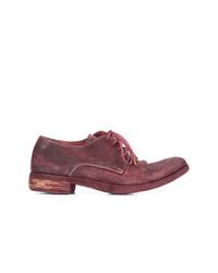 Chaussures derby en cuir bordeaux A Diciannoveventitre