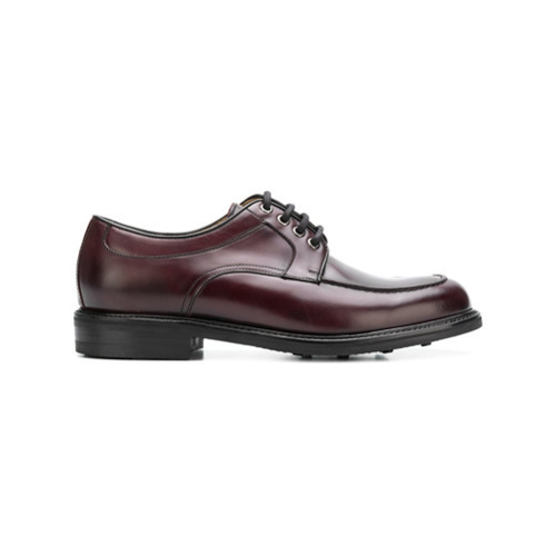Chaussures derby en cuir bordeaux Berwick Shoes