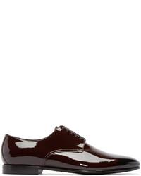 Chaussures derby en cuir bordeaux Burberry