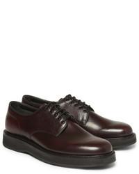 Chaussures derby en cuir bordeaux Church's