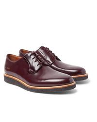 Chaussures derby en cuir bordeaux Common Projects