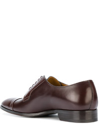 Chaussures derby en cuir bordeaux Paul Smith