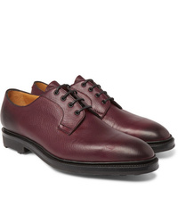 Chaussures derby en cuir bordeaux Edward Green