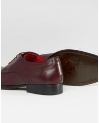 Chaussures derby en cuir bordeaux Base London