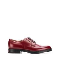 Chaussures derby en cuir bordeaux Gucci