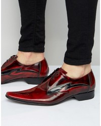 Chaussures derby en cuir bordeaux Jeffery West