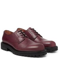 Chaussures derby en cuir bordeaux Mr P.