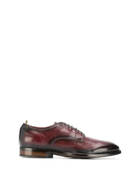Chaussures derby en cuir bordeaux Officine Creative