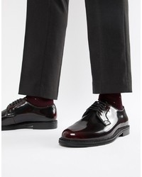 Chaussures derby en cuir bordeaux WALK LONDON