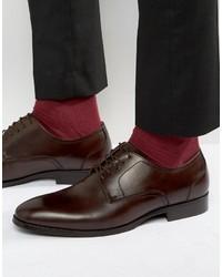 Chaussures derby en cuir brunes foncées Aldo