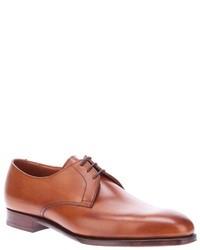 Chaussures derby en cuir brunes