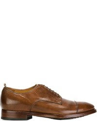 Chaussures derby en cuir brunes Officine Creative