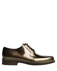 Chaussures derby en cuir dorées
