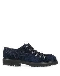 Chaussures derby en cuir épaisses bleu marine Doucal's