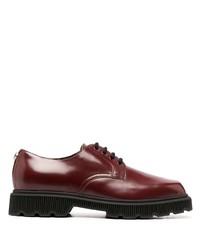 Chaussures derby en cuir épaisses bordeaux Gucci