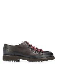 Chaussures derby en cuir épaisses marron foncé