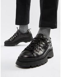 Chaussures derby en cuir épaisses noires