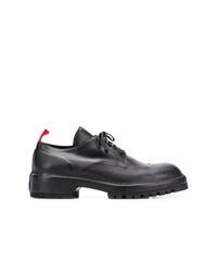 Chaussures derby en cuir épaisses noires 424