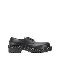 Chaussures derby en cuir épaisses noires Balenciaga
