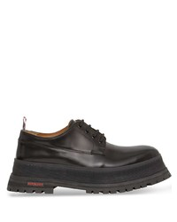 Chaussures derby en cuir épaisses noires Burberry