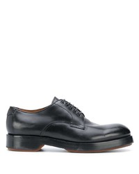 Chaussures derby en cuir épaisses noires Ermenegildo Zegna
