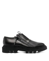 Chaussures derby en cuir épaisses noires Givenchy