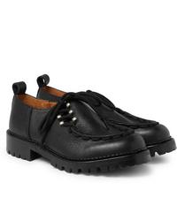 Chaussures derby en cuir épaisses noires Hender Scheme