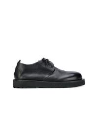Chaussures derby en cuir épaisses noires Marsèll
