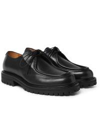 Chaussures derby en cuir épaisses noires Mr P.