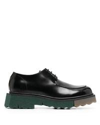 Chaussures derby en cuir épaisses noires Off-White