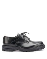 Chaussures derby en cuir épaisses noires Officine Creative
