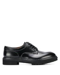 Chaussures derby en cuir épaisses noires Premiata