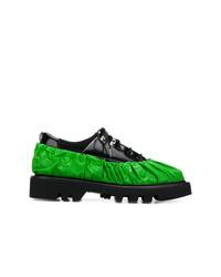 Chaussures derby en cuir épaisses noires Rombaut
