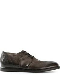 Chaussures derby en cuir gris foncé