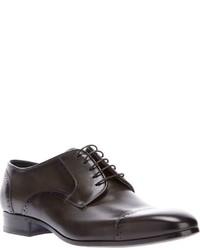 Chaussures derby en cuir gris foncé Lanvin