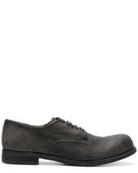Chaussures derby en cuir gris foncé Officine Creative