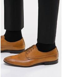 Chaussures derby en cuir marron clair Asos