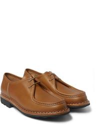Chaussures derby en cuir marron clair