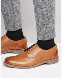 Chaussures derby en cuir marron clair Lambretta