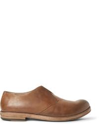 Chaussures derby en cuir marron clair Marsèll