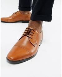 Chaussures derby en cuir marron clair Pier One