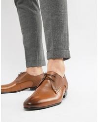 Chaussures derby en cuir marron clair Ted Baker