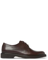 Chaussures derby en cuir marron foncé A.P.C.